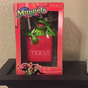 2002 Muppets Macy's Collectible Ornament - Kermit